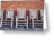 Row Of Rocking Chairs Greeting Card