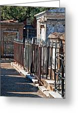 Row Of Tombs St Louis One Cemetery New Orleans Greeting Card