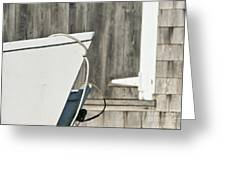 Rowboat And Boathouse Greeting Card