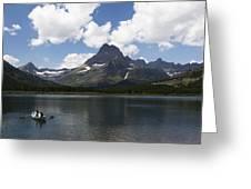 Rowboat At Many Glacier Greeting Card