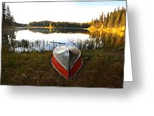 Rowboats At Jade Lake In Northern Saskatchewan Greeting Card