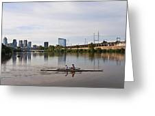 Rowing The Schuylkill Greeting Card