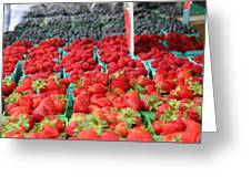 Rows Of Berries At Market Greeting Card