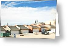 Rows Of Duplex Garages Greeting Card