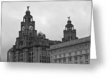 Royal Liver Building Greeting Card