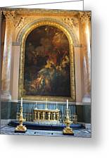 Royal Naval Chapel Interior Greeting Card by Anna Villarreal Garbis