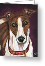 Royalty - Greyhound Painting Greeting Card