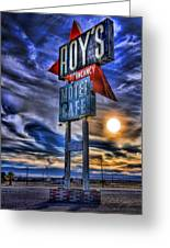Roy's Motel Cafe Greeting Card