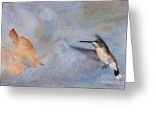 Ruby Throated Hummingbird 2 Greeting Card