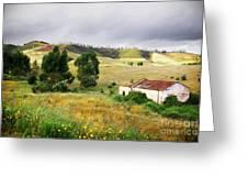 Ruin In Countryside Greeting Card