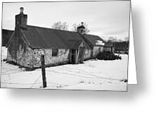 Ruined Cottage In Snow Greeting Card