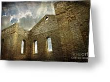 Ruins Of A Church In Ontario Greeting Card by Sandra Cunningham