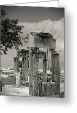 Ruins Of Hierapolis Greeting Card by Waldek Dabrowski