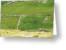Ruins Of Irish Chieftains House Near Moll Gap Ireland Greeting Card