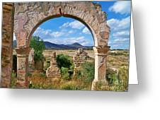 Ruins Of Mineral De Pozos Greeting Card