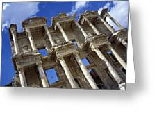 Ruins Of The Great Library At Ephesus Greeting Card