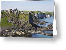 Ruins On Coastal Cliff Greeting Card