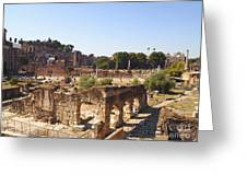 Ruins. Roman Forum. Rome Greeting Card