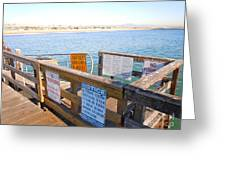 Rules Of The Pier  Greeting Card