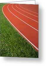 Running Track Greeting Card
