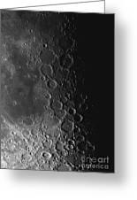 Rupes Recta Ridge And Craters Pitatus Greeting Card