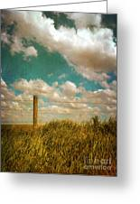 Rural Barbed Wire Fence Greeting Card