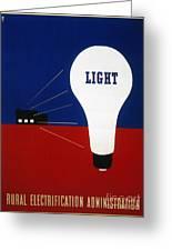 Rural Electrification 1937 Greeting Card