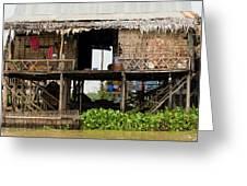 Rural Fishermen Houses In Cambodia Greeting Card