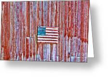 Rural Patriot Greeting Card