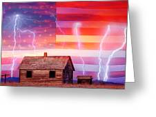 Rural Rustic America Storm Greeting Card