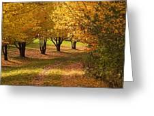 Rural Scene In Autumn Greeting Card