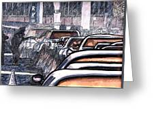 Rush Hour Approach To Midtown Tunnel Nyc Greeting Card