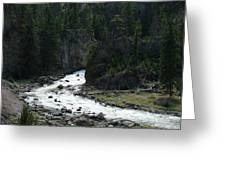 Rushing Thru The Mountains Greeting Card