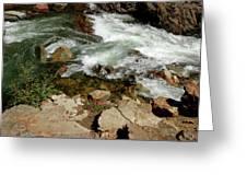 Rushing Water Glen Alpine Creek  Greeting Card