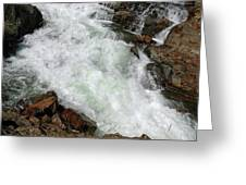 Rushing Waters Glen Alpine Creek Greeting Card