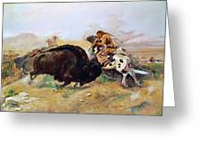Russell: Buffalo Hunt Greeting Card