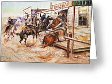 Russell Cowboy Art, 1909 Greeting Card