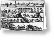 Russia: Procession, 1698 Greeting Card