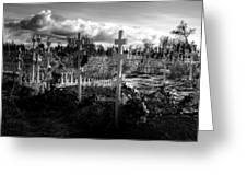 Russian Cemetery Greeting Card