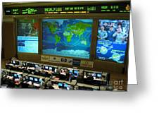 Russian Mission Control Center Greeting Card by Nasa