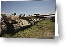 Russian T-62 Main Battle Tanks Rest Greeting Card