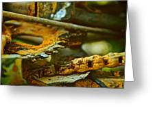 Rust Abstraction Greeting Card