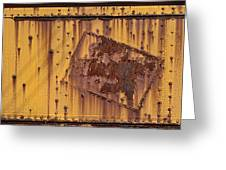 Rust In Sign Greeting Card