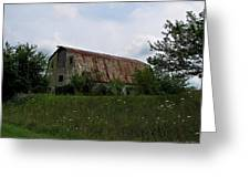 Rusted Barn Roof Greeting Card