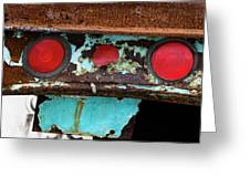 Rusted Blue Taillight Greeting Card