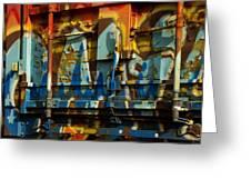 Rusted Graffiti Greeting Card
