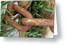 Rusted Links Greeting Card