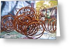 Rusted Spring 1 Greeting Card