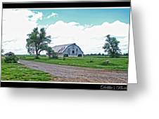 Rustic Barn Scene Greeting Card