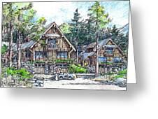 Rustic Cabins Greeting Card